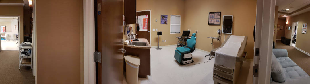 exam room and procedure suite